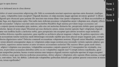 [CSS] 드로어(Drawer) 만들기