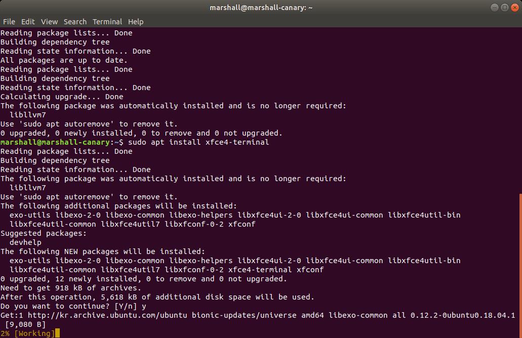 Xfce Terminal 설치