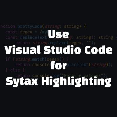 VSCode를 Syntax Hihglighter로 쓰는 방법