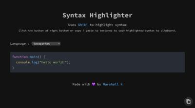 Online Syntax Highlighter 만들어보기